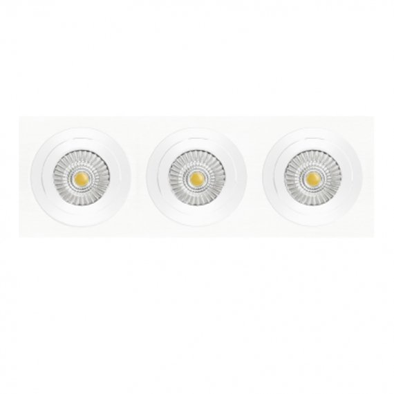 NEXIA INOX S CUADRADO 3 DOWNLIGHT LED CUADRADO