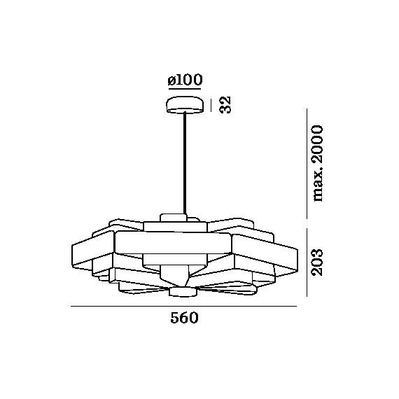 WEVER & DUCRE J.J.W 0.4 LÁMPARA COLGANTE